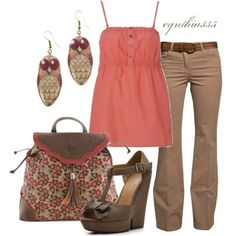 """""""Summer Outfit"""" by cynthia335 on Polyvore. Love the earrings!"""
