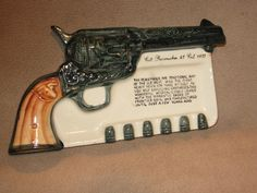 icollect247.com Online Vintage Antiques and Collectables - COLT PEACEMAKER .45 ASH TRAY RARE Western Collectibles-