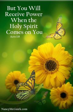 """Bible Verse - Acts 1:8 """"But You Will  Receive Power When the Holy Spirit  Comes on You."""" NancyMcGuirk.com"""
