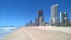 The Beach at Surfers Paradise
