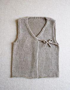 Vest Sleeveless Jumper Baby Knitted