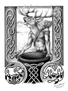 """The Dagda by AdmYrrek. The Dagda is one of the many High Kings of Ireland. His name means """"the good god"""" in Irish. This does not necessarily refer to his moral goodness, just that he is accomplished in many things. He is one of the Tuatha de Danann, the god-race that came to Ireland from some other world around 9,000 to 6,000 years ago."""
