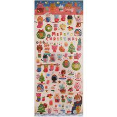 Q-Lia Stickers: Merry Christmas
