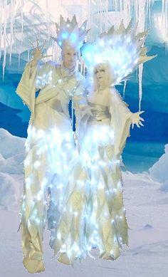 Ice Prince Princess Stilt-Walkers Ice-Cave