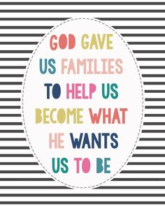 Free Print - God Gave Us Families - Gdesigned