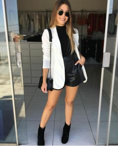 Casual winter outfits - 6 looks incríveis com Blazer – Casual winter outfits Casual Winter Outfits, Classy Outfits, Stylish Outfits, Fall Outfits, Summer Outfits, Outfits Otoño, Blazer Outfits, Blazer Fashion, Fashion Outfits