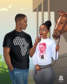 Sexy Black Art, Black Love Art, Black Girl Art, Black Is Beautiful, Art Girl, Black Couple Art, Art Love Couple, Black Couples, Image Couple