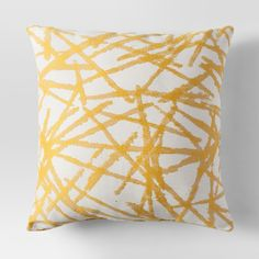 Bring cheerful decor into your home with this Brushstrokes Woven Throw Pillow from Project 62™. With a solid background and pretty brushstrokes, this accent pillow will create a warm and inviting feel throughout any space. <br><br>1962 was a big year. Modernist design hit its peak and moved into homes across the country. And in Minnesota, Target was born — with the revolutionary idea to celebrate design for all. Project 62 embodies this legacy with a collection ...