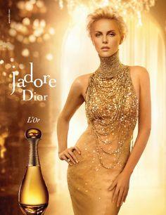 J adore advert gold dress that looks