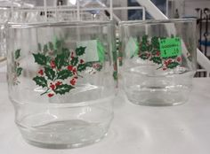 Six Under Six: Chic and Cheerful Holiday pieces   DC Goodwill Fashionista: Glasswear: Goodwill is full of stem wear and unique tumblers.