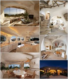 Could you live in a real Flintstone house? Flintstone House, Cob House Interior, Interior Design, Design Art, Earth Sheltered Homes, Earth Bag Homes, Earthship Home, Underground Homes, Dome House
