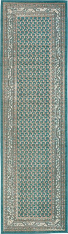 Crowther Teal Area Rug