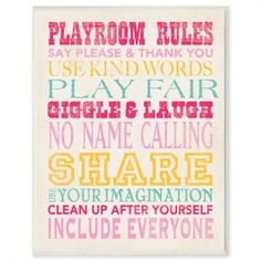 Another great find on Blue Playroom Rules Typography Wall Art by The Kids Room by Stupell Blue Playroom, Playroom Rules, Playroom Ideas, Playroom Decor, Playroom Storage, Daycare Ideas, Playroom Bench, Kid Playroom, Children Playroom