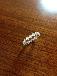 Floating diamond eternity band - beautiful, classic, sparkling, 3+ carats!