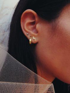 Gold Bar Stud earrings in Gold fill, short gold bar stud, gold fill bar post earrings, gold bar earring, minimalist jewelry - Fine Jewelry Ideas Gold Bar Earrings, Small Earrings, Cuff Earrings, Sterling Silver Earrings, Cute Ear Piercings, Piercings For Small Ears, Body Piercings, Lightning Bolt Earrings, Silver Ear Cuff