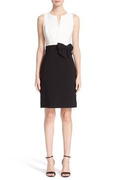 kate spade new york colorblock bow sheath dress available at #Nordstrom