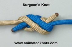 Tutorial on Surgeon's Knot Tying - link to a good tutorial site for the kids - for any knots