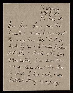 Robert Motherwell letter to Joseph Cornell