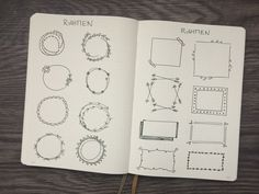 Dekoelemente Bullet Journal Rahmen