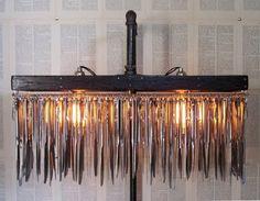 Butter Knife Standing Chandelier traditional floor lamps   Lamp Design Ideas
