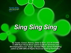 Sing Sing Sing | God's Kids Worship #worshiphousekids