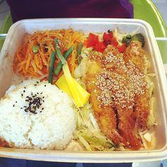 Riso e gamberi fritti a pranzo da Wasabi @Tracy Conley - #foodday #foodporn #japenesefood #food #praws #rice #pranzo #london #londra