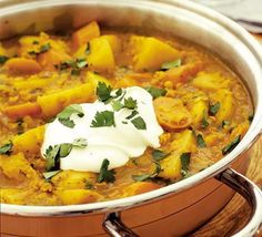 Spicy root & lentil casserole - one of my favourite easy dinners #food #vegetarian #curry