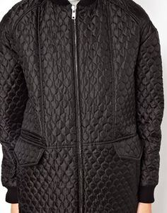 Image 3 ofASOS Longline Quilted Bomber