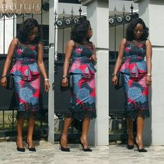 If yes, try some of the latest Ankara styles we have lined up for you today. They are sexy, sassy and look absolutely gorgeous. This season, Ankara fashion has a kind of 'viby' feel to it. These ladies have got their name on each styl African Attire, African Wear, African Women, African Dress, African Fashion Ankara, Latest African Fashion Dresses, African Print Fashion, Trendy Ankara Styles, Ankara Dress Styles