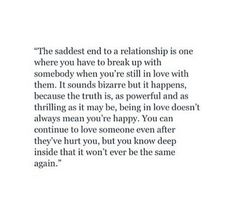 Break Up Quotes; It hurts a lot because it mattered a lot but I have to get over this because sometimes the right thing is hardest . Sad Quotes, Great Quotes, Quotes To Live By, Inspirational Quotes, Sad Breakup Quotes, Heartbreak Qoutes Hurt, First Love Heartbreak, Let Him Go Quotes, Breakup Advice