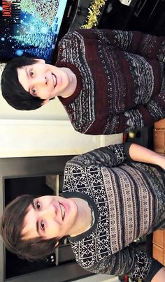 Dan and Phil (otherwise known by their online aliases) #danisnotonfire and #amazinghil