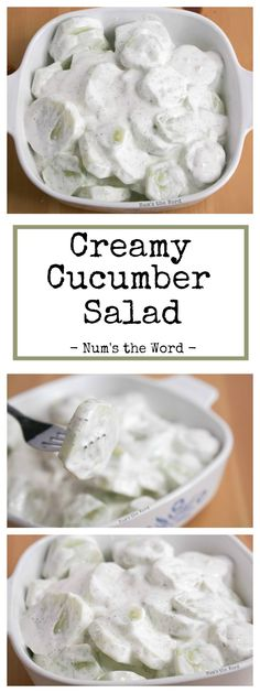 This Creamy Cucumber Salad is easy to make and tastes fantastic. A fresh side dish perfect with any meal, picnic, barbecue or potluck! #cucumber #salad #sidedish #dill #picnic #summer #garden #bbq #barbecue #creamy #recipe