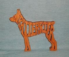 Rat Terrier Dog Wooden Puzzle by huebysscrollsawart on Etsy, $12.00