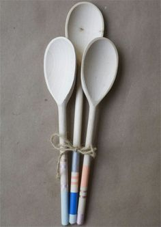 Paint Wooden Spoon Handles - 20 of the Most Adorable DIY Kitchen Projects You've Ever Seen