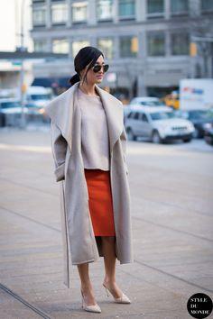 New York Fashion Week FW 2015 Street Style: Nicole Warne - STYLE DU MONDE | Street Style Street Fashion Photos