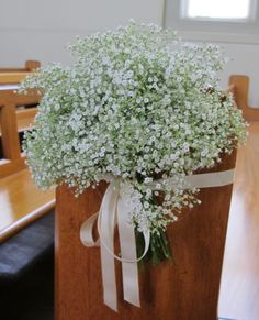 Baby's Breath Pew ends