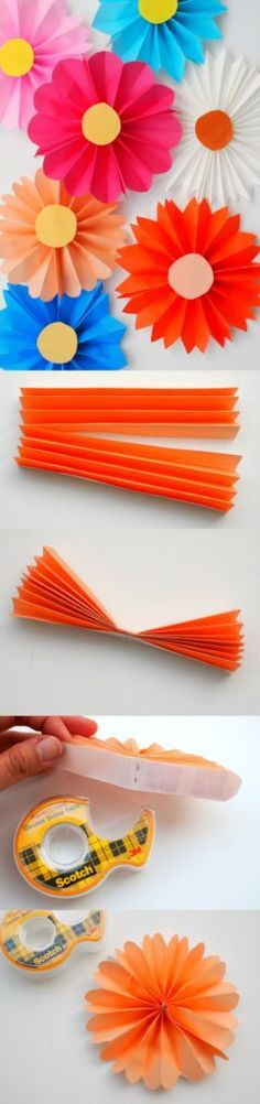 Origami de flors de paper per a nens