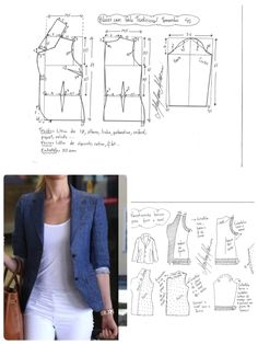 Amazing Sewing Patterns Clone Your Clothes Ideas. Enchanting Sewing Patterns Clone Your Clothes Ideas. Coat Patterns, Dress Sewing Patterns, Sewing Patterns Free, Sewing Tutorials, Clothing Patterns, Sewing Hacks, Blazer Pattern, Jacket Pattern, Make Your Own Clothes