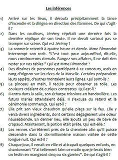Des Inférences en français - Inference in French