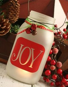 Christmas Vinyl Decal Joy Vinyl Sticker by ReadySetCraftKits