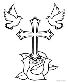11 Pictures Of Crosses to Color Pictures Of Crosses to Color. 11 Pictures Of Crosses to Color. Cross Stained Glass Coloring Pages Clipart Best Cross Coloring Page, Tattoo Coloring Book, Bible Coloring Pages, Flower Coloring Pages, Coloring Pages For Kids, Coloring Books, Hand Kunst, Cross With Wings, Cross Drawing