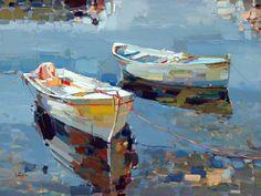 Josef Kote 1964 | albanesa pintor abstracto | Colores vibrantes