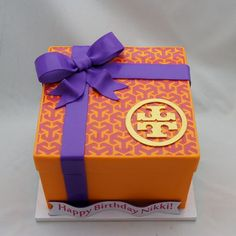 Tory Burch Gift Box Cake