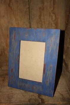 4x6Wooden FrameBlue and GrayDistressedCece by PaintingPirates, $12.00