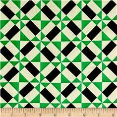 Blousewear Crepe Georgette Geometric Green
