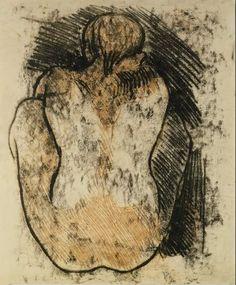 workman: alongtimealone: Gauguin, Paul (French, - Crouching Tahitian Woman - 1902 (by *Huismus) Paul Gauguin, Life Drawing, Painting & Drawing, Gauguin Tahiti, Impressionist Artists, Monet, Art Moderne, Art Graphique, Renoir