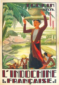 L'Indochine Francaise - Tonkin Delta (1930)