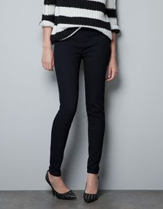 JEGGING WITH SIDE ZIP - Jeans - TRF - ZARA United States