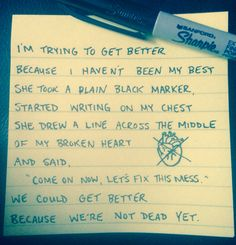 So try and get better and don't ever accept less Frank Turner ❤️