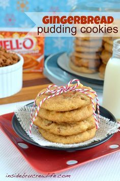 Gingerbread Pudding Cookies #cookie #recipe #gingerbread
